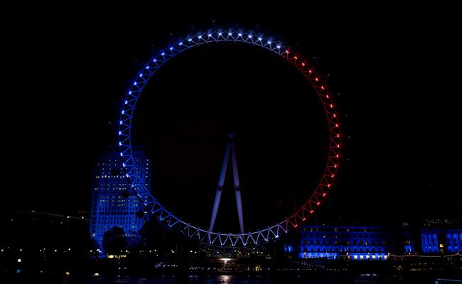 london eye red white and blue solidarity