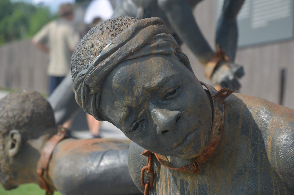 Kwame Akoto-Bamfo at the new National Memorial for Peace and Justice in Montgomery, Ala.