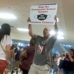 The prevailing mood at last week's Flagler County School Board meeting. (© FlaglerLive)