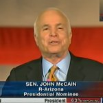"""""""Tonight — tonight, more than any night,"""" John McCain said as he conceded victory to Barack Obama in 2008, """"I hold in my heart nothing but love for this country and for all its citizens, whether they supported me or Sen. Obama, I wish Godspeed to the man who was my former opponent and will be my president. And I call on all Americans, as I have often in this campaign, to not despair of our present difficulties but to believe always in the promise and greatness of America, because nothing is inevitable here."""""""