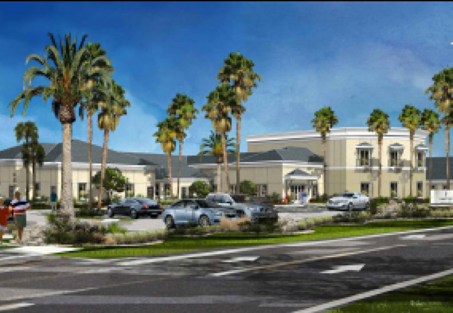 A rendering of the watercress assisted living facility for dementia patients on Corporate Drive, approved last week by the Palm Coast Planning Board.