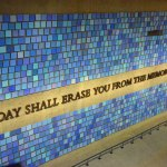An inscription on a wall at the 9/11 Memorial Museum at the site of the World Trade Center towers. Behind the wall is a repository of some 8,000 unidentified human remains. Virgil's quote, however, was taken out of context, and misapplied to the memory of the 9/11 victims. (© Pierre Tristam/FlaglerLive)
