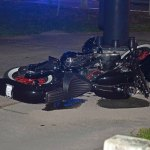 The motorcycle was catapulted past the road at the southeast corner of Belle Terre Parkway and Royal Palms Parkway. (© FlaglerLive)