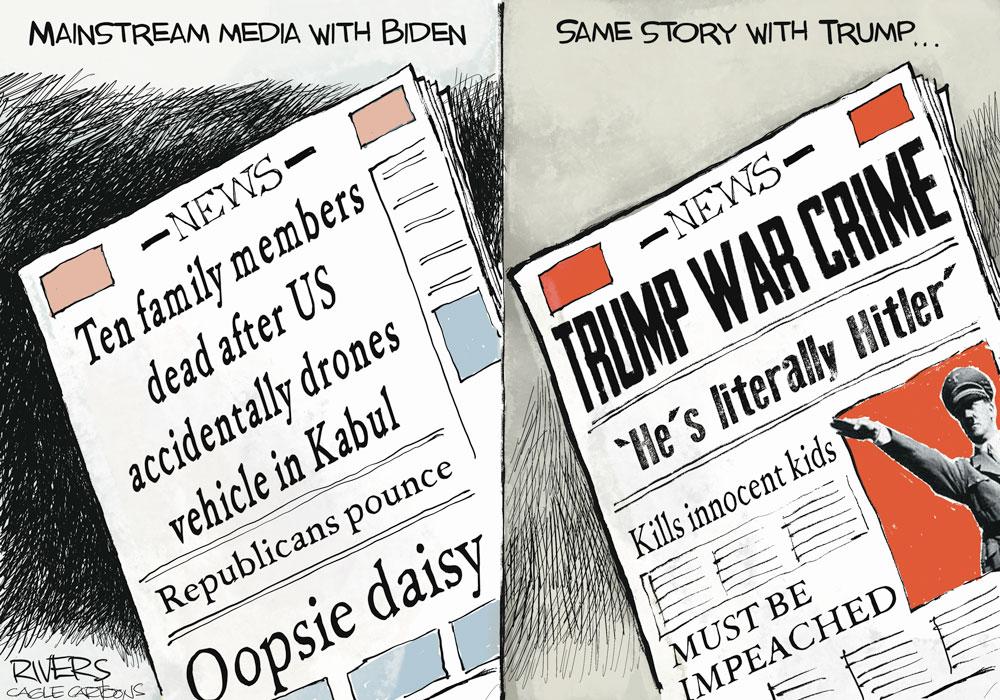 Media Inconsistencies by Rivers, CagleCartoons.com