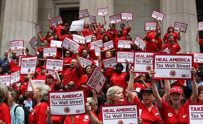 A National Nurses United rally. (Facebook)