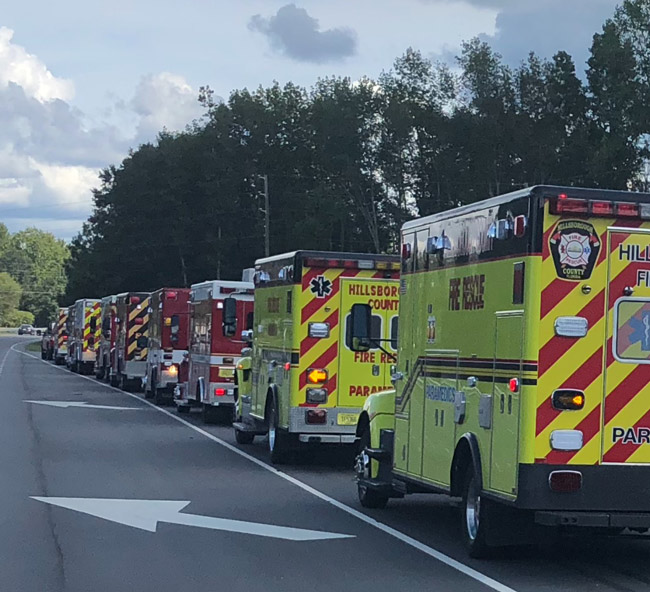 Off to meet Hurricane Florence: Flagler County Fire Rescue's Strike Team was one of five from around the state that headed for the Carolinas this week to help with the emergency response to Hurricane Florence. See the story here.