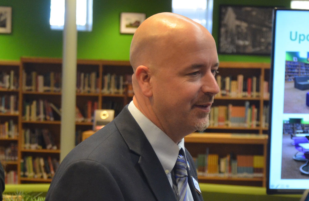 Education Chancellor Jacob Oliva, a former Flagler County superintendent, was at the listening tour meeting, but no audio or video recording of the meeting was taken. (© FlaglerLive)