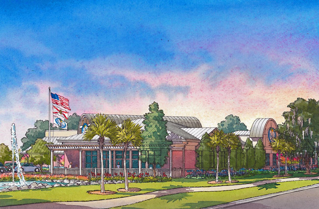 A rendering of the new Palm Coast Community Center.