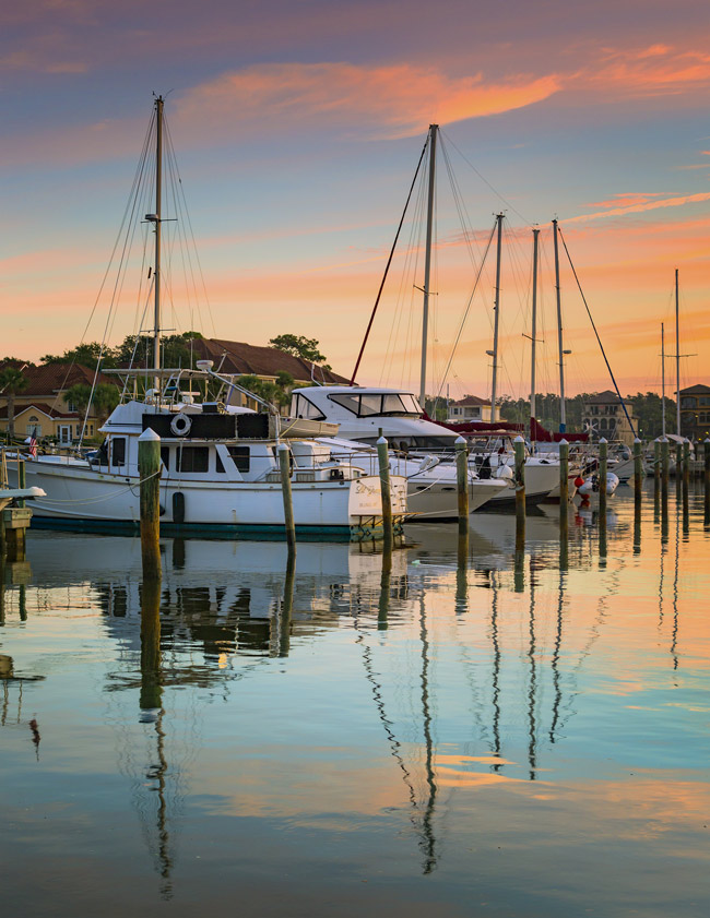 Palm Coast' s photo contest is on, with entries taken from now through May 31. See below, under Announcements, for details. Last year's first-place winner, above,was 'Dawn at the Marina' by Vicki Payne.