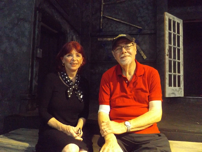 Flagler Playhouse President Monica Clark and Artistic Director Larry Williams are preparing for a new season of musical and comedy productions. (c FlaglerLive)