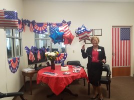 Johnston's staff decorated the office to mark her re-election this afternoon. (Rae Nescio)