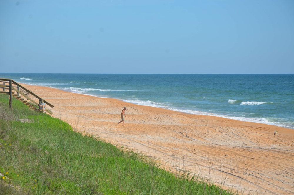Flagler County's customarily public beaches. (© FlaglerLive)