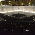 Reflecting pool night 9/11 memorial