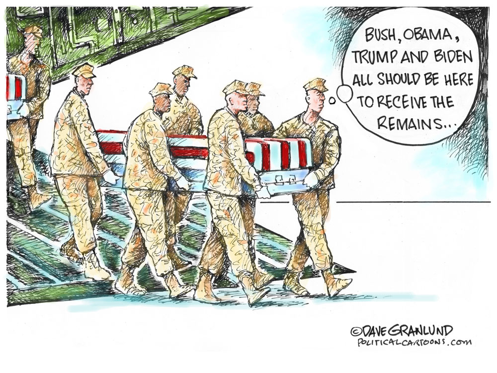 ISIS terror bombs kill US troops by Dave Granlund, PoliticalCartoons.com