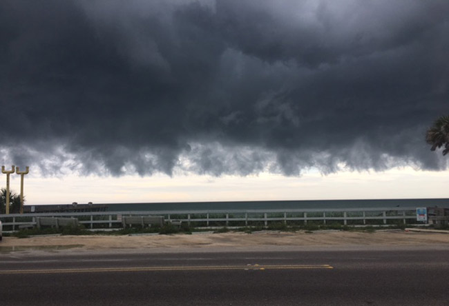 'Cool storm' was Barbara Revels's subject line of the email to which the former county commissioner attached the above picture, taken outside her Coquina Real Estate and Construction office on A1A in Flagler Beach Wednesday afternoon.