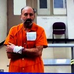Richard Dunn appearing by zoom from the Flagler County jail during a hearing before Circuit Judge Terence Perkins Friday. (© FlaglerLive via zoom)