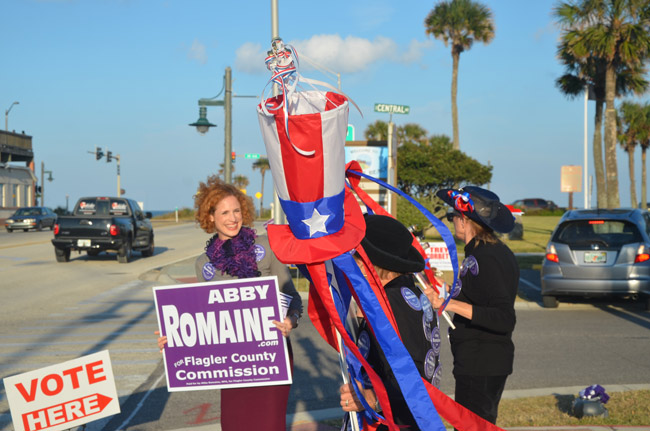 Abby Romaine during her first run for county commission in 2012. (© FlaglerLive)
