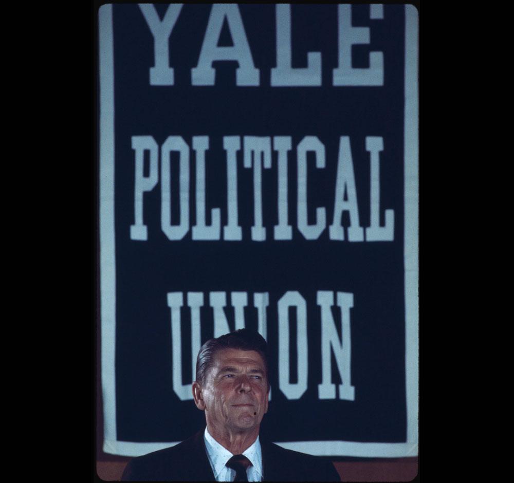 Ronald Reagan at Yale, 1981. (Bernard Gotfryd, Library of Congress)