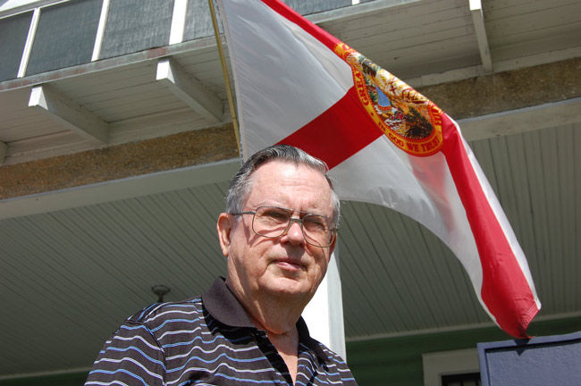 Flagler County historian Bill Ryan, still touring after all these years. See below. (© FlaglerLive)