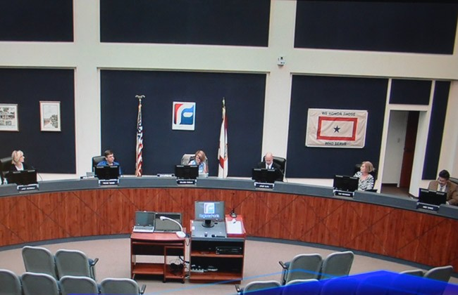 Divided 3-2, the Flagler school board Tuesday refused revisiting its school calendar, even though the Legislature passed a law that addresses the board's concerns.  (© FlaglerLive)