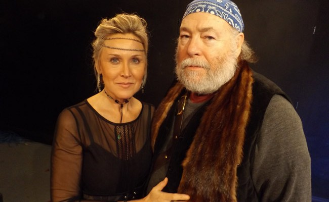 "Robert O. Dimsey is Macbeth and Sharon Resnikoff is Lady Macbeth in the City Repertory Theatre production of Shakespeare's ""Macbeth."" The play will be staged Feb. 22-25 as a Shakespeare in the park production in conjunction with the Palm Coast Arts Foundation. FlaglerLive photo"
