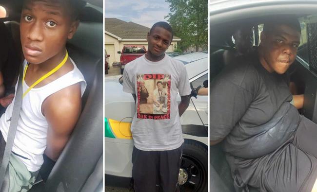 Jemari Overstreet (age 18), Steven Johnson (age 20), Heron Burson (age 18),