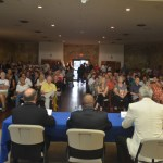 It was standing room only at the old coquina building in Bunnell for Monday's sheriff's forum. (c FlaglerLive)