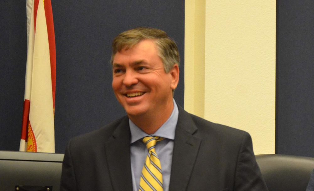 Flagler County School Board Chairman Trevor Tucker. (© FlaglerLive)