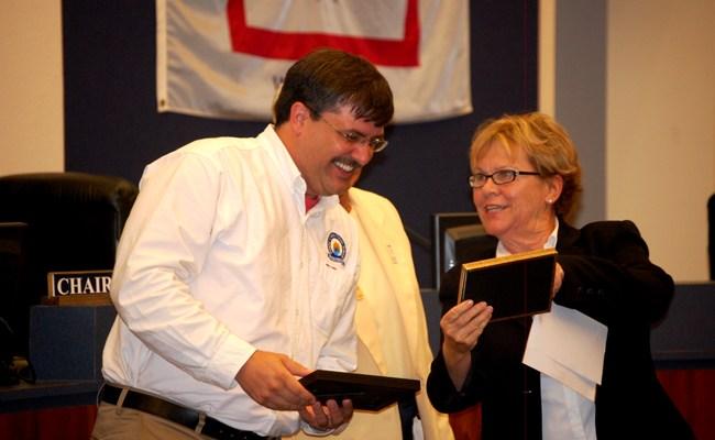 janet valentine and bill delbrugge, flagler county school superintendents