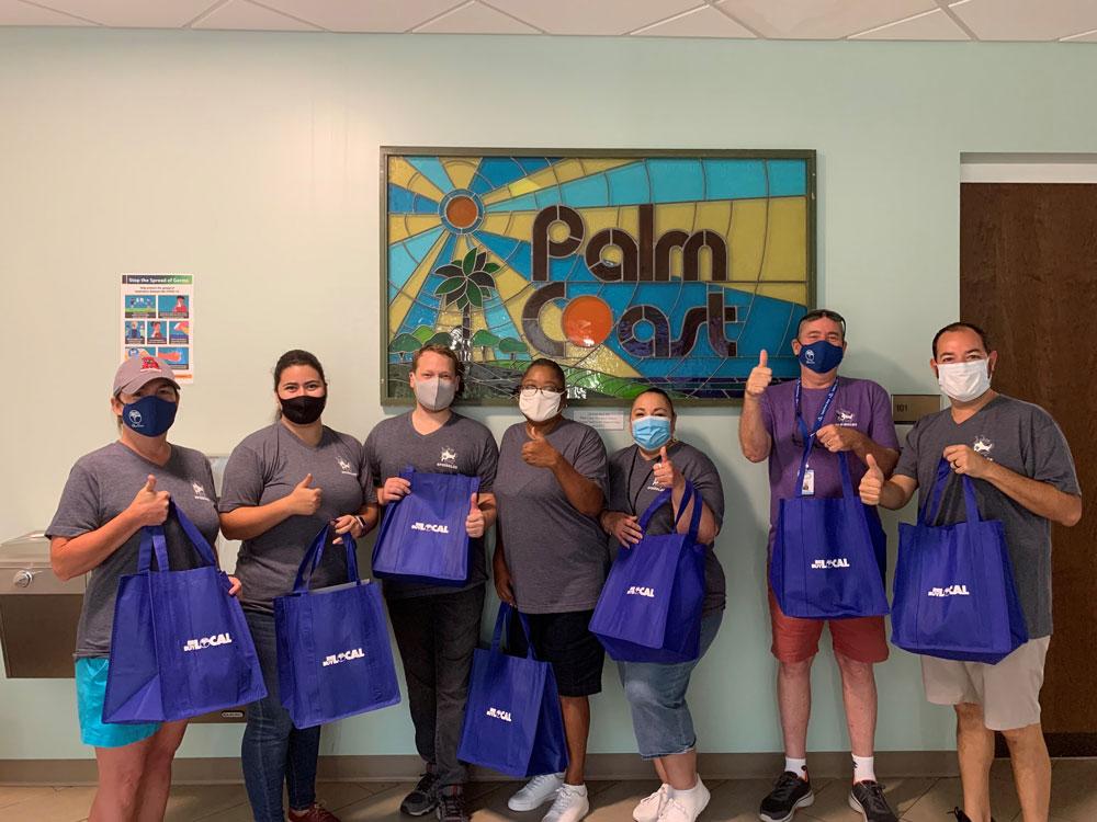 A few volunteers. (Palm Coast)