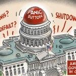 Governing by Crisis by Jeff Koterba, CagleCartoons.com