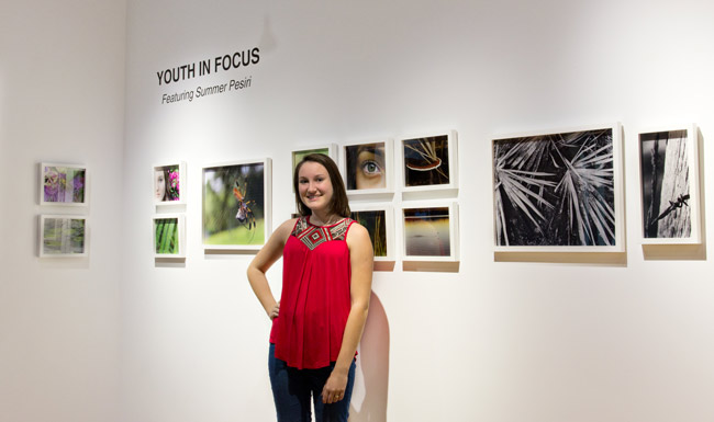 The Youth in Focus Series--part of the Flagler County Art League's new shows this Saturday--The Youth in Focus series provides the unique opportunity for a young artist to be personally involved in producing their very own solo exhibition. The fifth installment features the work of Summer Pesiri, a 16-year-old student who attends Mainland High School. She came to the museum's attention through her continued involvement with our educational programs over the past three years and has quickly established herself as a nature photographer with a bright future.