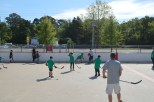 Adults vs Kids, battling on the boards.