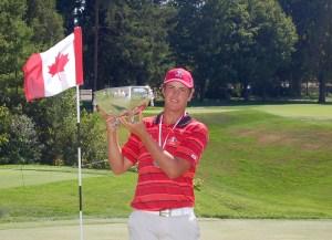 Hugo Bernard wins the 112th Canadian Men's Amateur Championship (Photo: Scott MacLeod, Flagstick.com)