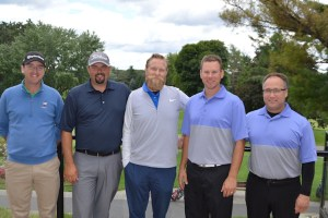 The qualifiers from the PGA of Ottawa Zone (far left) Lee Curry/Chris Barber & (far right) Dave McDonald/Gord Percy pose with P.J. Little of Nike Golf (Middle)
