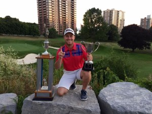Ryan Sevigny wins the 67th Whig Standard Eastern Ontario Golf Championship (Photo: Ryan Sevigny, Twitter)