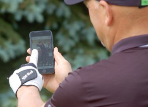 The Smartphone is a great tool to help you improve your golf game (Photo: Scott MacLeod)