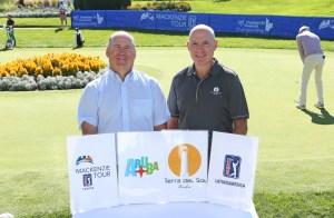 Mackenzie Tour President Jeff Monday with Tierra del Sol Resort and Golf Principal Michael Mattalo (Photo: Mackenzie Tour - PGA TOUR Canada)