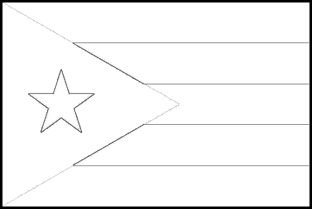 Puerto Rico Flag Colouring Page – Flags Web