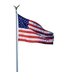 25' Satin Continental Aluminum Flagpole