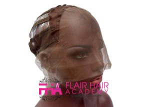 Lace front wig cap with machine back
