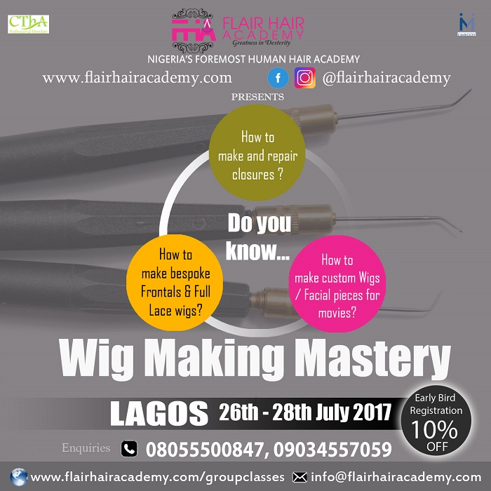 Upcoming  Wig Making Mastery Workshop