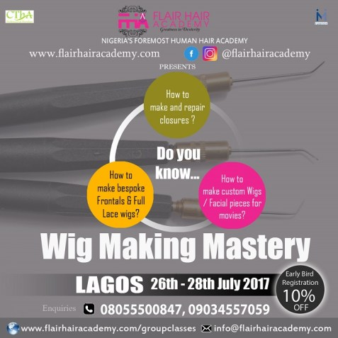lagos wig making workshop