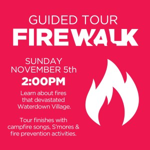 Guided Fire Walk with the Waterdown BIA @ Downtown Waterdown