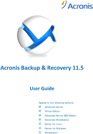 Acronis Backup Advanced Workstation Server