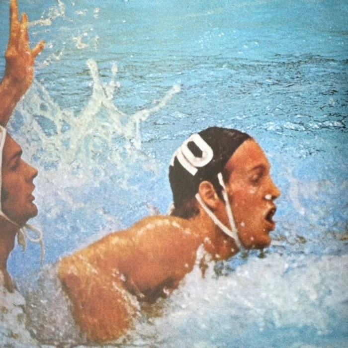 John MacLeod, Olympic water polo player representing Canada, plays in a match during the Montreal 1976 Olympics. Photo courtesy of John MacLeod.