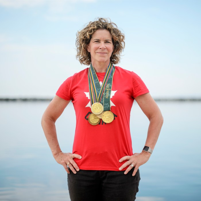 Team Canada's Chef de Mission for the Tokyo 2020 Olympic Games, Marnie McBean poses for a portrait at the Argonauts Rowing Club on June 28, 2019. Photo by Andrew Lahodynskyj/COC/Tokyo 2020 Olympic Games. Marnie is on this week's episode of Keep the Flame Alive to explain what an Olympic Chef de Mission does.