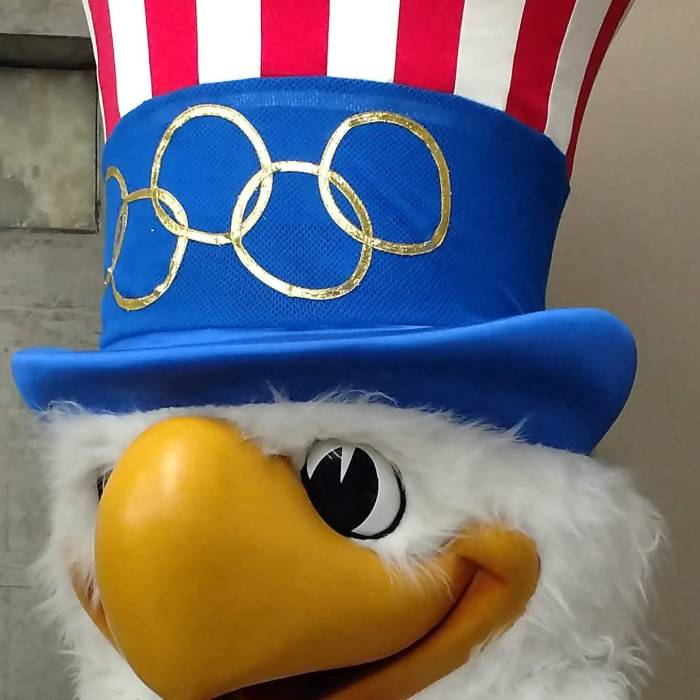 Sam the American Eagle, mascot of the Los Angeles 1984 Olympics