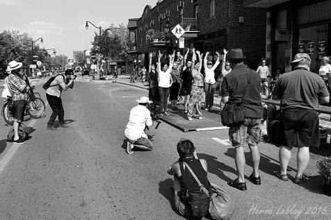 Atelier sur la rue Bernard lors du Festival Flamenco de Montréal, 6 septembre 2014