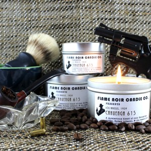 Cahuenga 615 - Philip Marlowe inspired all natural soy wax candle - Flame Noir Candle Co